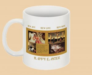 "EASTER CUP ""NEW LIFE-HOPE-JOY"" NIB Collectible VNTG Collage  $12.50"