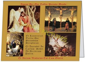 EASTER NOTECard Latin/Art/Vntg/4X5 Picture Prints Christian $3.00- FREE SH-cont USA