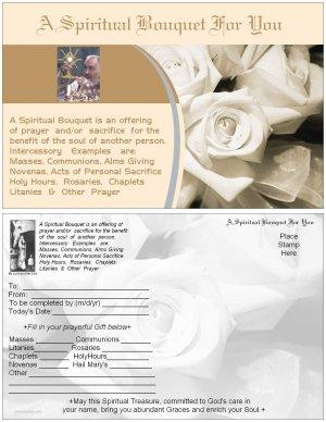 St.Pio Spiritual Bouquet Card with envelope Catholic - 5.5 X 8.5  $3.00 Free SH-cont USA