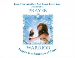 Prayer Warrior Magnet  Large  5.4 x 4.2  $3.50