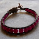 Pink JADE leather wrap