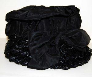 Vintage Black Dress Hat in Original Cardboard Box