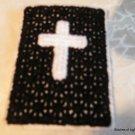 Black Plastic Canvas Christian Phone/Camera Case