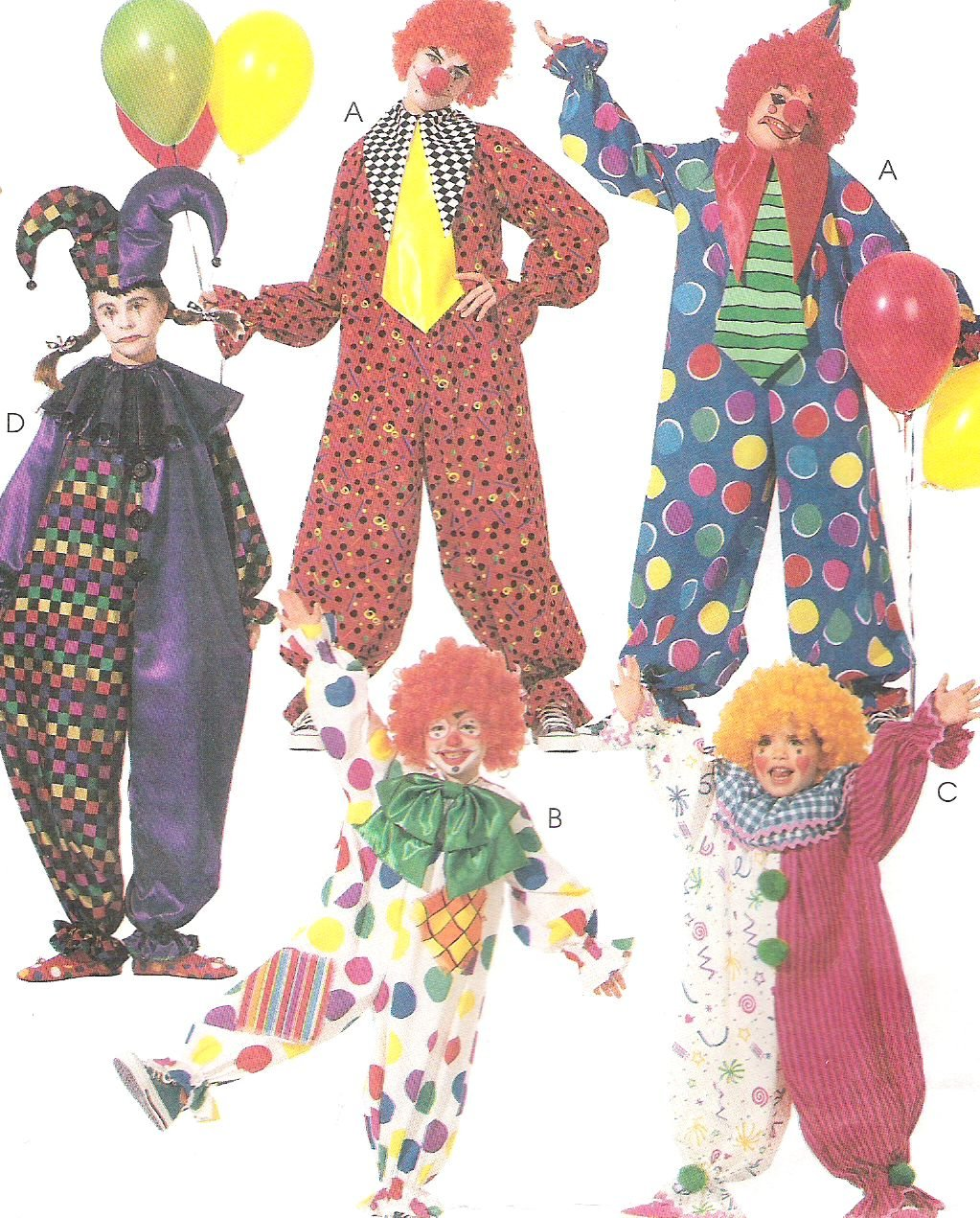 McCall's 3306 Sewing Pattern Adult Costume Clown Jester X Small