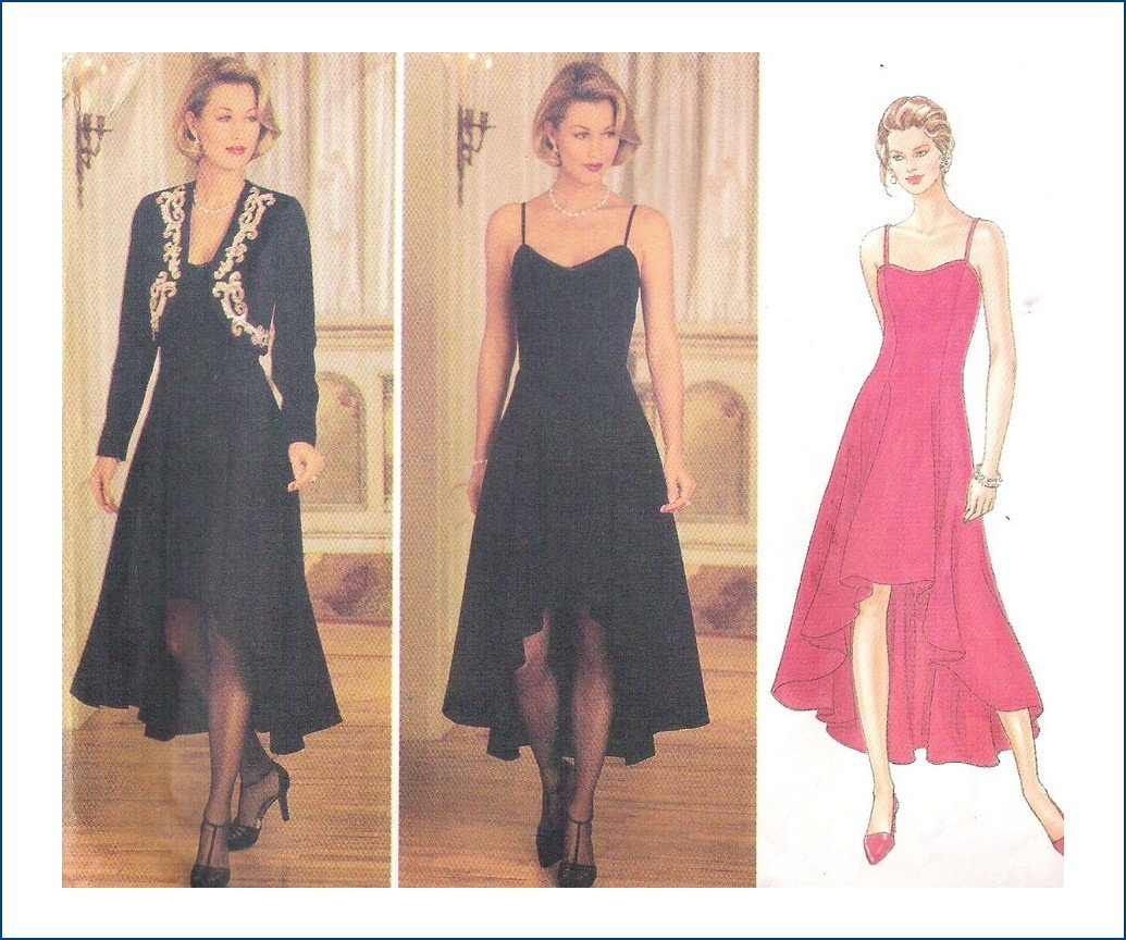 Butterick 3758 Uncut Sewing Pattern Misses Evening Dress Jacket Size 12 14 16