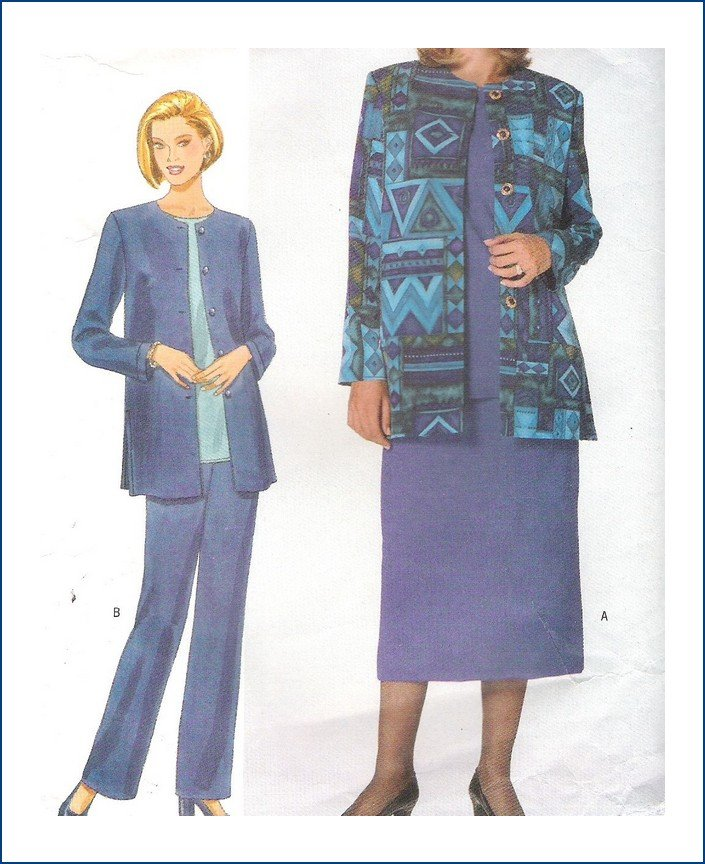 Butterick 5241 Sewing Pattern Misses Pants Skirt Top Jacket Size 12 14 16