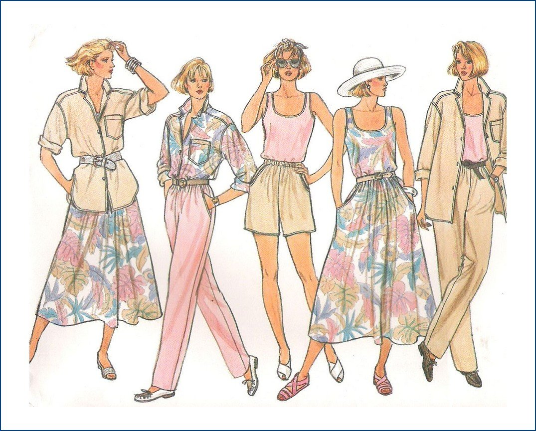 Butterick 3247 Uncut Sewing Pattern Misses Summer Wardrobe Size  8 10 12