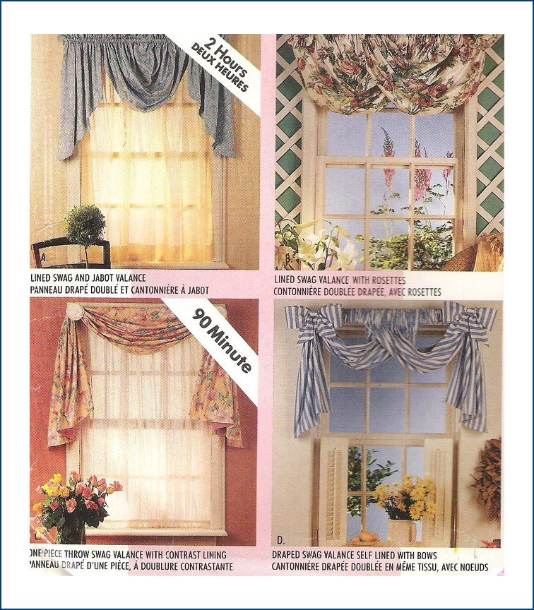 McCall's 681 2 Hour Valances Swags Sewing Pattern Uncut