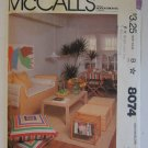Home Decor Pattern Uncut McCalls 8074 First Apartment Pillows Futon Pads Chair Pads