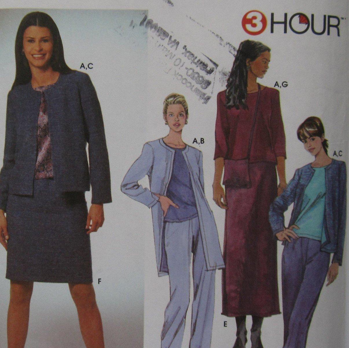Uncut Simplicity 9399 Misses Top Jacket Skirt Bag 3 Hour Pattern Sizes 4 6 8 10