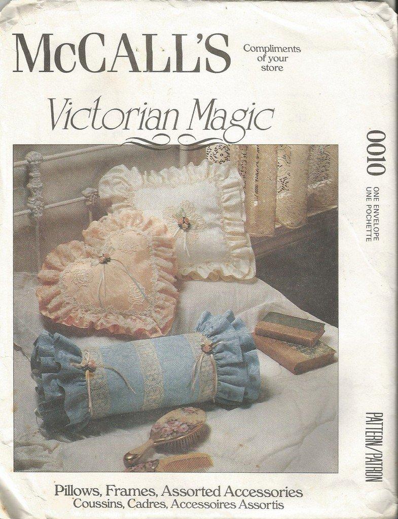 McCalls Craft Pattern 0010 Victorian Magic Pillows Frames Accessories Boxes BasketsUncut