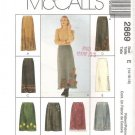 McCall's 2869 Sewing Pattern Misses Skirt in Two Lengths Sz 14 16 18 Appliques