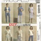 McCall's M4665 Sewing Pattern Misses Wardrobe Easy Endless Options Uncut  Size XS S M