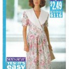 See & Sew Pattern Misses Top Skirt Butterick 6116 Size 12 14 16 Uncut