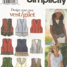 Simplicity 9058 Uncut Pattern Misses Lined Vest Size 18 20 22 Design Your Own Vest