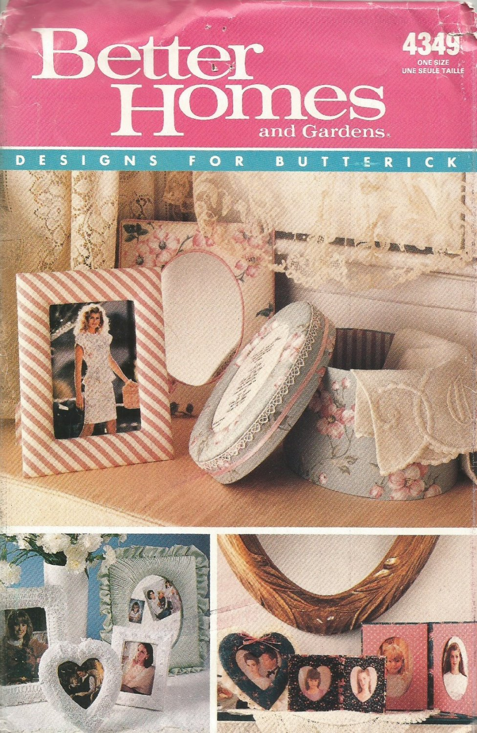 Butterick 4349 Crafts Pattern Picture Frames Uncut Better Homes And Gardens Designs