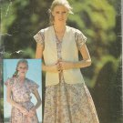 Butterick 6395  See & Sew Pattern Misses Reversible Vest Dress Uncut Size P S M