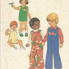 Simplicity 7322 Vintage Toddler Pattern Toddler Jumpsuit and Shirt Size 2 1975