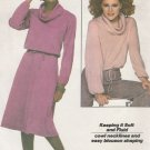 Simplicity 8162 Pattern Misses' Jiffy® Knit Pullover Top and Skirt Uncut Size Small (10-12)