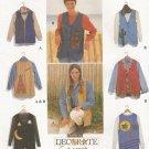 Uncut Simplicity Pattern 9640 Misses Set of Vests Size XS S M Decorate a Vest