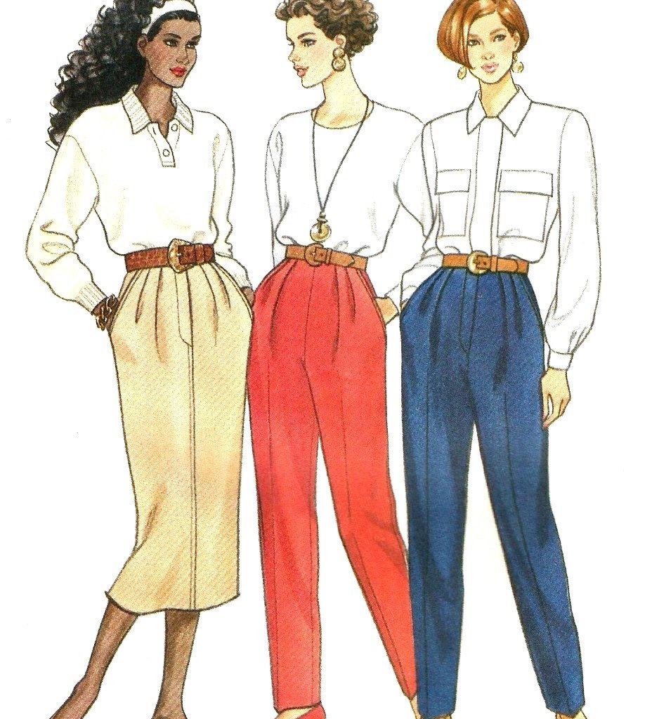 Butterick 5713 Sewing Pattern Size 12 14 16 Misses Skirt and Pants Uncut