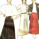 Vogue 9139 Sewing Pattern Flared Skirt with Pleat Variations Uncut Size 12
