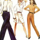 Vogue 7284 Misses Pleated Front Pants Or Trousers & Shorts Pattern Uncut Size 8 10 12