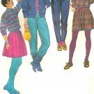 Vintage Pattern Simplicity  6114 Misses Mini Skirt Cardigan Vest Pants Size 8 10 12 Uncut