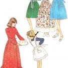 Vintage 1970s Pattern Simplicity 8288  Girls Dress and Pinafore in Two Lengths Size 8