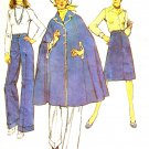 Simplicity 6234 Sewing Pattern Misses Cape Skirt and Pants Size 10 Vintage 1970s Pattern