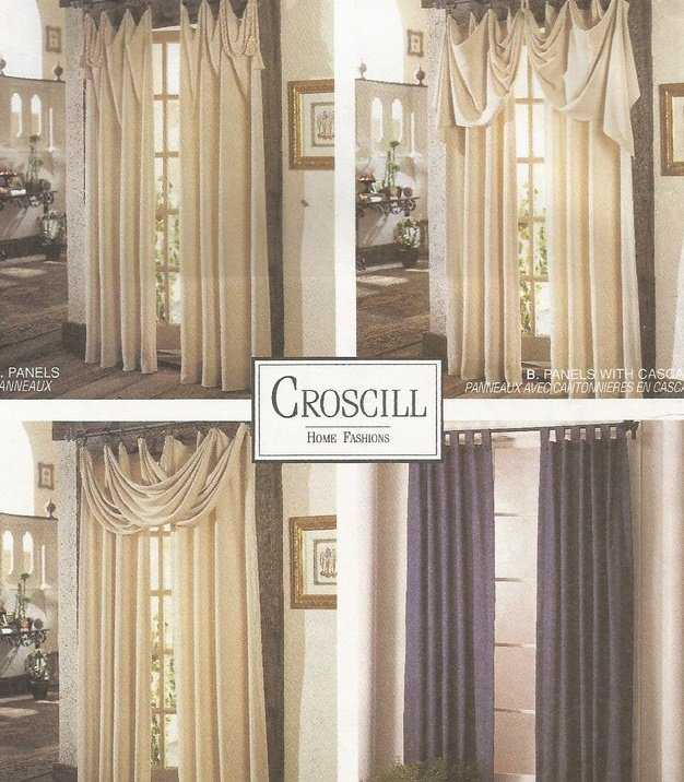 McCalls 8142 Croscill Custom Designed Window Treatments