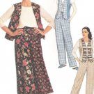 McCall's 8295 Uncut Sewing Pattern Misses Top Vest Pants Skirt Size 12 14 16