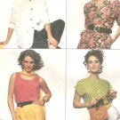 McCalls 5800 Uncut Pattern Misses Blouse & Tank Top 4 Designs Sizes 14 16 18