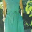 UNCUT Vintage Pattern Butterick 5754 See & Sew Loose Fitting Dress Self Tie Belt Misses Size 12