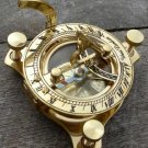 brass compass SUN DIAL SOLAR time  astrology  navigation  marine maritime boy scouts girl scouting