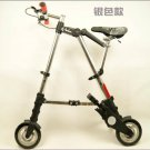 Quality Folding bike Abike 8 inch (silver) Free shipping