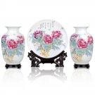 Fine porcelain vase and plate set 3 in 1(jdp002)