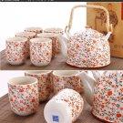 High quality porcelain teapot set 1 teapot with 6 cups(ch00c)