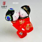 Hand Painted Clay Figure Wedding Gift s2