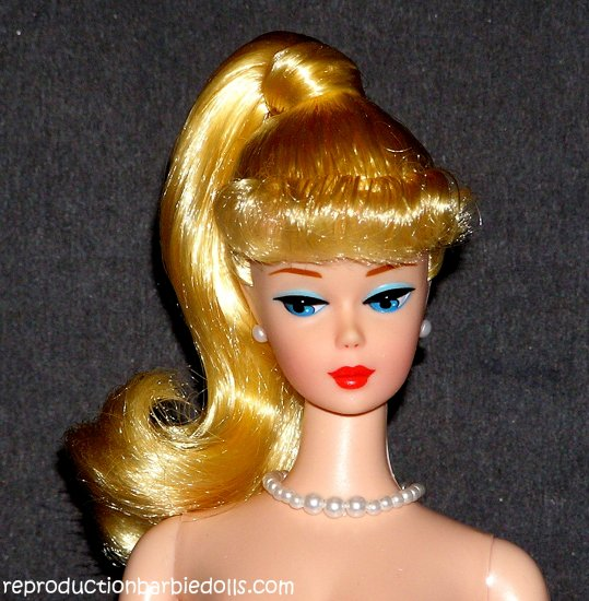 Lemon Blonde Ponytail Barbie Reproduction