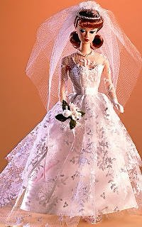 Weddiing Day Reproduction Barbie Outfit