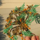 Beaded bouquet, orange