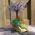 Beaded tree, lilac/purple & green
