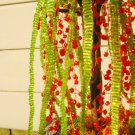 Beaded tree, red & green
