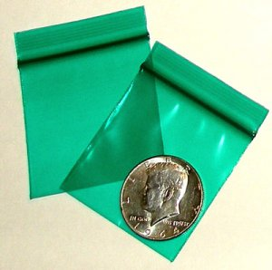 "200 Green Baggies 2 x 2"" Small Ziplock Bags 2020"