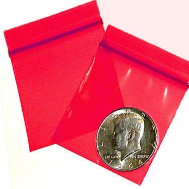 """200 Red Baggies 2 x 2"""" Small Ziplock Bags 2020"""