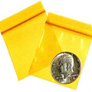 "200 Yellow Baggies 2 x 2"" Small Ziplock Bags 2020"