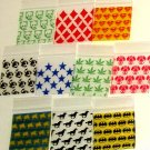 "100 Mixed Design Baggies 1.5 x 1.5"" Mini Ziplock Bags 1515"