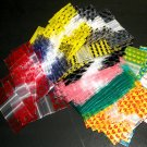 "100 Assorted Designs Baggies 1.25 x 1.25"" Mini Ziplock Bags 125125"