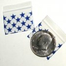 100 Apple® Brand Bags 1510 Blue Stars 1.5 in by 1 in.